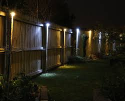 fine design outdoor fence lighting amazing 1000 ideas about