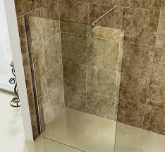 sandy brown futuristic walk in bathroom shower big showers wall