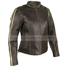 vented leather motorcycle jacket womens cafe racer jacket dark brown leather motorcycle jacket