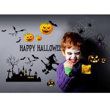 wall sticker happy halloween home household room wall sticker