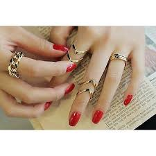 gold knuckle rings images 9008 fashion women 39 s warp gold above band midi knuckle ring rings jpg