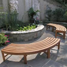 curved benches maybe a bit smaller for around the fire pit