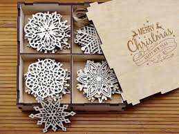 wooden snowflake ornaments wood decorations