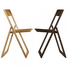 chaise de pliante aviva chaise pliante hêtre naturel de magis