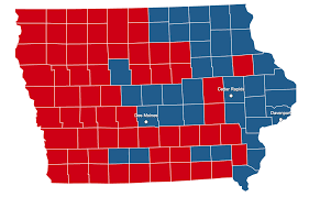 Romney Obama Map The 99 Counties Of Iowa Each Have Their Own Histories America
