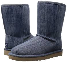 womens ugg boots navy amazon com ugg womens washed denim boot navy size