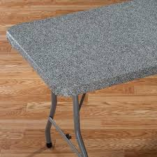 how to cover a table best granite elasticized banquet table cover kitchen walter drake