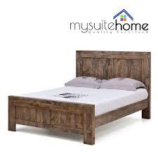 Reclaimed Wood Double Bed Frame King Size Bed Frame Ebay Melbourne Bedding Ideas