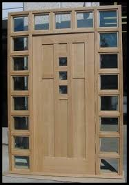 Exterior Door With Window Of Oak Workshop Authentic Craftsman Mission Style Doors
