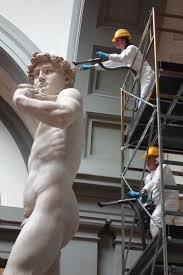 michelangelo s david michelangelo u0027s david gets dusted as routine maintenance