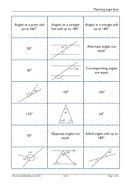 matching angle facts geometry and measure angles u2013 basic rules