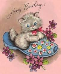 vintage kittens birthday card it u0027s my cake kitties vintage