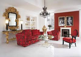 Red Sofa Furniture Living Room Red Sofa Design And Trendy Stripes Living Room