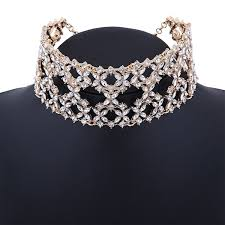 gold statement collar necklace images Xy fancy women fashion punk chain collar necklace wide jpg