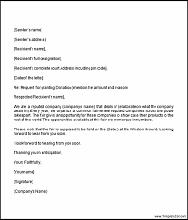 sample donation letter format charity donation request letter