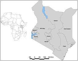 Map Of Kenya Africa by The Map Of Kenya Showing Provincial Administrative Boundaries And