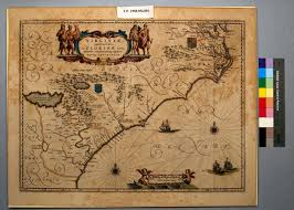 Map Of Virginia And North Carolina by 1640 Map Of Southern Virginia And Eastern Florida