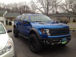Ford Raptor Blue - f 150 f150 raptor hood scoop hs002