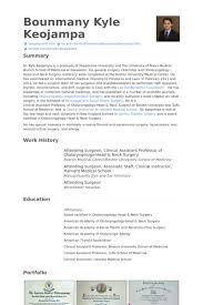Resume Format For Assistant Professor Job by Surgeon Resume Samples Visualcv Resume Samples Database