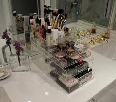 Bathroom Dividers Makeup Storage Makeup Storage Organizer Ideas For Bathroom