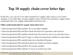 Letter Of Resume Examples by Top 10 Supply Chain Cover Letter Tips 1 638 Jpg Cb U003d1430528765