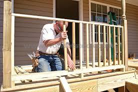 Patio Rails Ideas Landscape Design Ideas How To Build A Simple Wooden Deck Rail