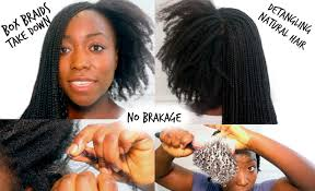 hair to use for box braids box braids take down and wash detangling natural hair how to