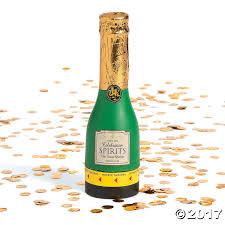 mini champagne confetti party poppers