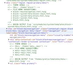 theme drupal menu block routes overriding menu html twig just for the primary menu