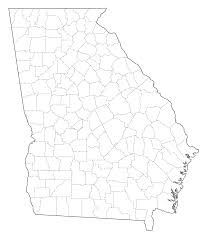 Blank County Map by Georgia Coast Map Geologic Map Of Georgia Us State Wikiwand Tv