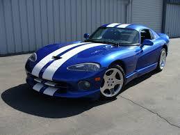 Dodge Viper White - 1996 dodge viper gts blue white stripes american supercars