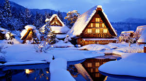 sunny snowy mountains wallpapers winter clouds trees time tree house snowy cottage evening winter