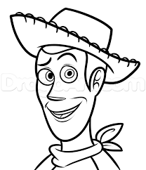 drawing woody easy step by step disney characters cartoons