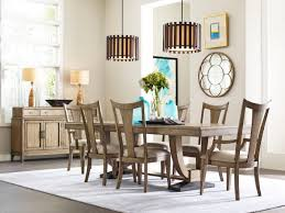 trestle dining table set american drew evoke trestle dining table set