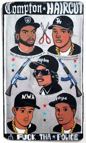 compton haircut painting by sean stepanoff nwa pinterest dj