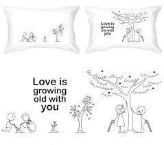 his and hers pillow cases grow with you his and hers pillowcases