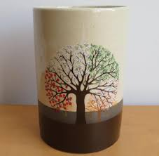 unique ceramic planter vase tree design seasons made in