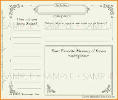 guest sign in book for funeral 26 images of guestbook template leseriail