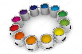 paint cans color wheel u2014 stock photo zzoplanet 6435812
