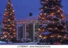 stock photography of christmas tree college university