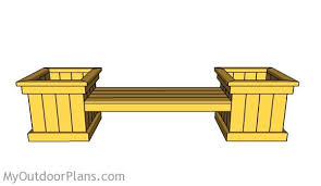 Diy Wooden Garden Bench by Planter Bench Plans Myoutdoorplans Free Woodworking Plans And