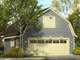 Gambrel Roof Garages | 2 car garage plans two car garage plan with gambrel roof and