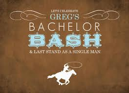 free printable bachelor party invitation template with horse