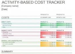 cost tracking template excel templates