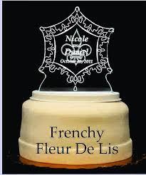 fleur de lis cake topper frenchy fleur de lis light up wedding cake topper wedding
