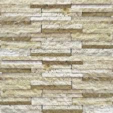 Split Face Stone Backsplash by Mix Travertine Mosaic Tile Qdisurfaces
