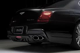 bentley continental flying spur black bentley u0027s flying spur gets wald u0027s black bison design wemotor com