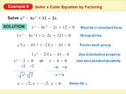 example 6 solve x 3 6x 2 2x 12 solution x 3