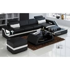 canapé design noir et blanc canape angle noir blanc