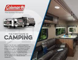 coleman travel trailers floor plans 2017 dutchmen coleman brochure rv literature